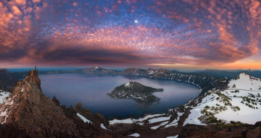 panoramic view of crater lake