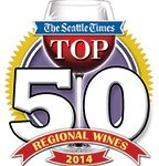 "Seattle Times 2014 Top 50 Wines – includes the 2012 Cuvee Pinot Noir; which is described by Seattle Times wine columnist Andy Perdue as follows: ""This is classic McMinnville pinot noir, with dark, brooding fruit and firm underpinnings"". 1"