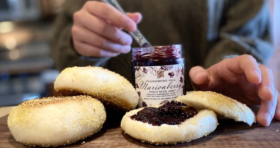 Fresh Baked Bread and Jam Made from our Oregon Wines at Youngberg hill