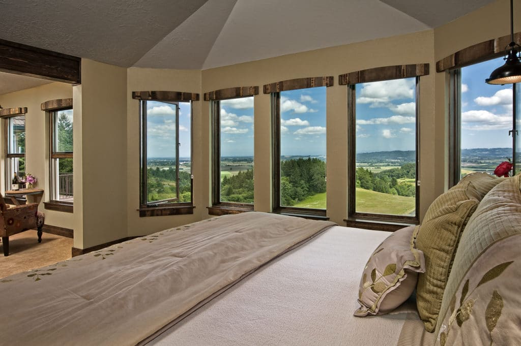 Our 5-Star Luxury Lodging offers incrediblly comfortable rooms along with incredible views of the Willamette Valley.
